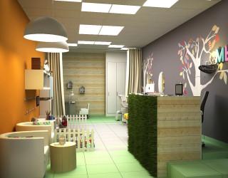 Дизайн интерьера парикмахерской от компании «Все Для Салона»: фото