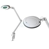 Лампа-лупа LED (48 светодиодов 8 диоптрии) кронштейн\ серый ободок