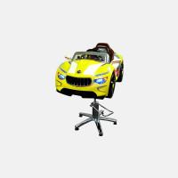 Детское парикмахерское кресло Мазерати А желтое