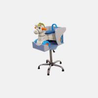 Детское парикмахерское кресло Лошадка голубое