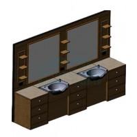 Мужское зеркало барбер Tivoli 2