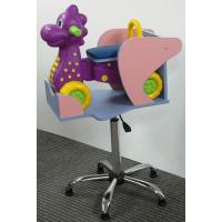 Детское парикмахерское кресло Дракоша пневматика хром